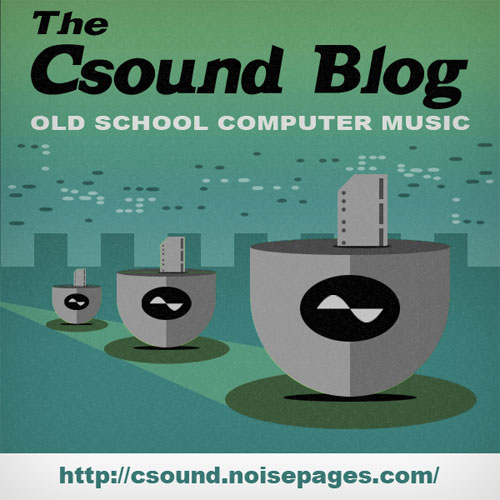 The Csound Blog Retro Poster